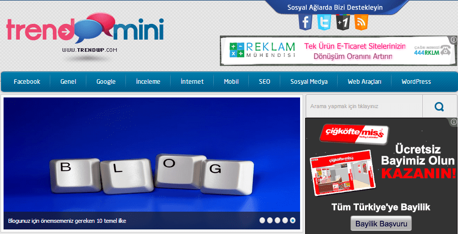 trendmini-wordpress-teması Ücretsiz Blog Teması: TrendMini