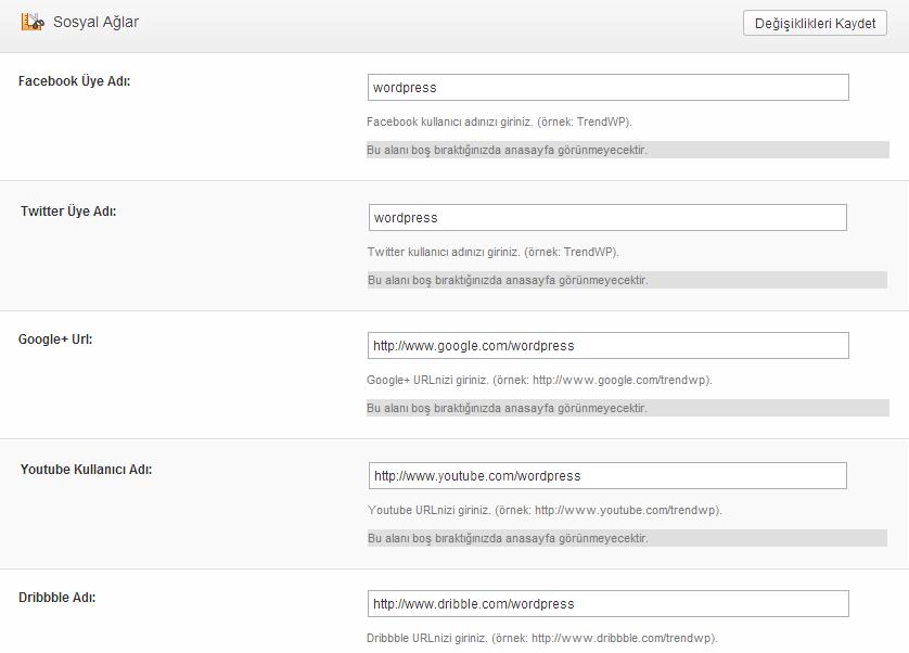 trendwp-haber-ayarları Trendwp Wordpress Haber Teması